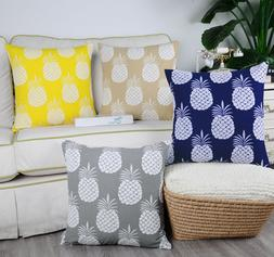 CaliTime Pillow Cases Shells Cushion Covers Pineapple Fruit