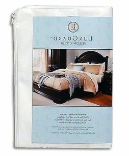 LuxGuard Pillow Protector Microfiber Zip Cover Dust Mite All