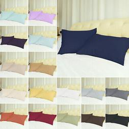2 X Pillowcases Soft 100% Brushed Microfiber Zippered Housew