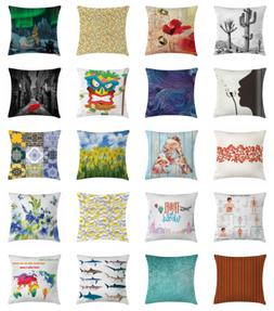 Ambesonne Printed Throw Pillow Case Cushion Cover Waterproof