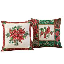 Collections Etc S/2 Holiday Pillow Covers