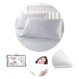 Set of 2 100% Goose Down and Feather Pillow King Size Pillow