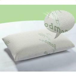 Set of 2 New King Size Bamboo Pillow Memory Foam Improved Ve