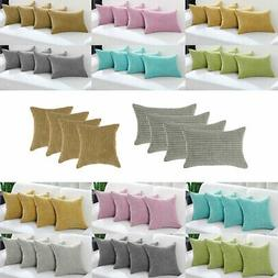 Set of 4 Throw Pillow Cases Cover Pillowcase Cushion Covers