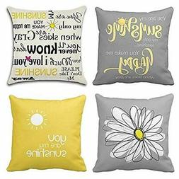 Emvency Set of 4 Throw Pillow Covers You are My