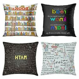 Emvency Set of 4 Throw Pillow Covers and Classroom