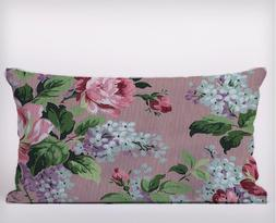 shabby chic Flowers Pink Long Cushion Covers Pillow Cases Ho