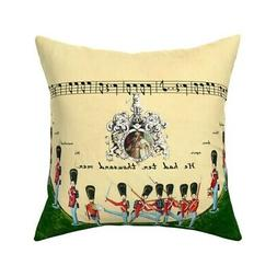 Soldiers Army Grand Old Duke Of Throw Pillow Cover w Optiona