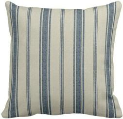 Emvency Throw Pillow Cover Cotton Linen Navy Blue French Jac