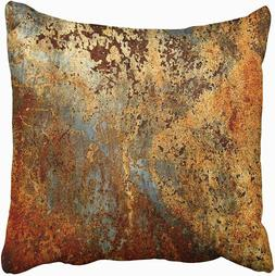 Emvency Throw Pillow Cover Decorative 18x18 In Brown Rust Co