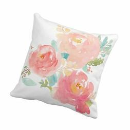Emvency Throw Pillow Cover Flower Girly Peonies Summer Water