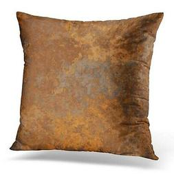 Emvency Throw Pillow Covers Case Brown Copper Old Rusty Meta