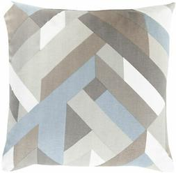 Surya TO-014  Square Indoor Decorative Pillow with Down or P
