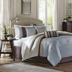 Tradewinds 7 Piece Comforter Set in Blue - Size: King