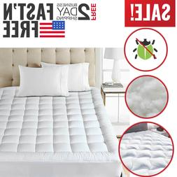 Full Size Mattress Pad Cover Pillow Top Topper Bed Breathabl