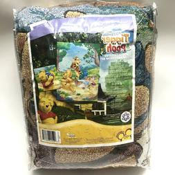 Disney Winnie Pooh Tigger Woven Tapestry Pillow And Throw Bl